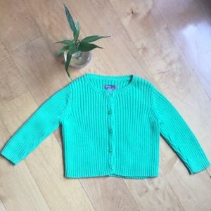 🍃Baby gap green sweater cardigan 🍃
